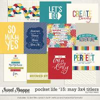 Pocket Life '15: May 3x4 Titlers by Traci Reed