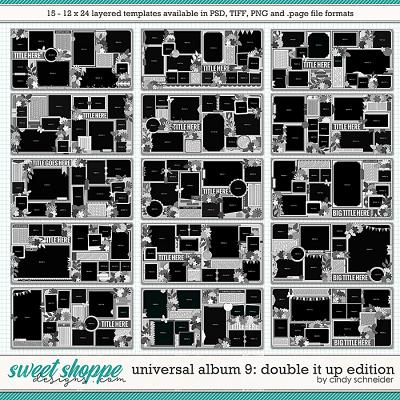 Cindy's Layered Templates - Universal Album 9: Double It Up Edition  by Cindy Schneider
