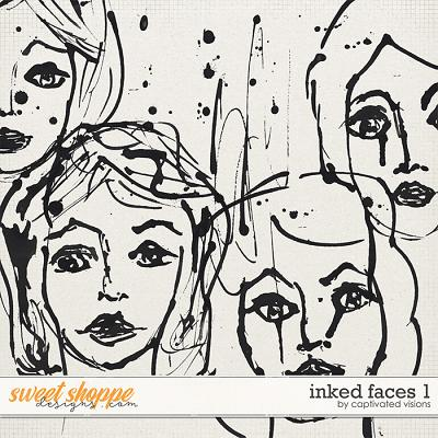 Inked Faces 1 by Captivated Visions