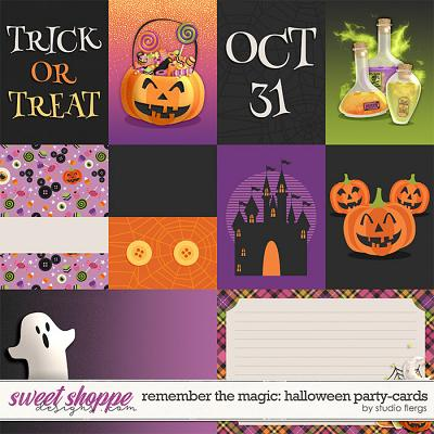 Remember the Magic: HALLOWEEN PARTY- CARDS by Studio Flergs