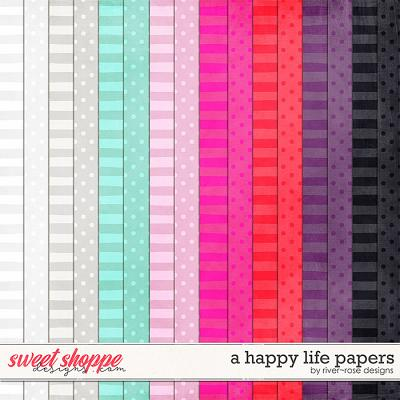 A Happy Life Papers by River Rose Designs