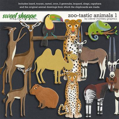 Zoo-tastic Animals 1 by Clever Monkey Graphics