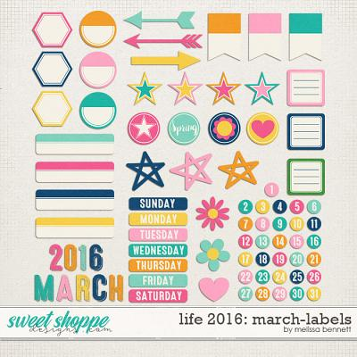 Life 2016-March: Labels by Melissa Bennett