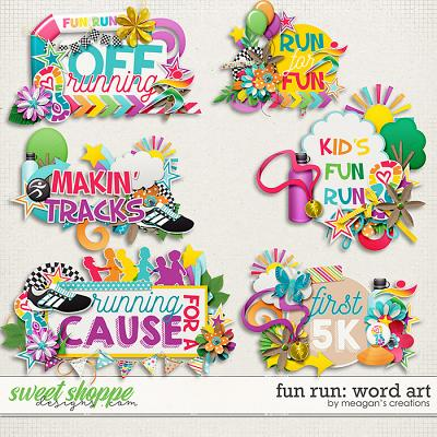 Fun Run Word Art by Meagan's Creations