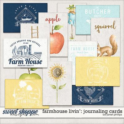 Farmhouse Livin': Journaling Cards by Janet Phillips