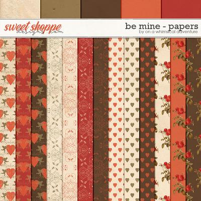 Be Mine Papers by On A Whimsical Adventure