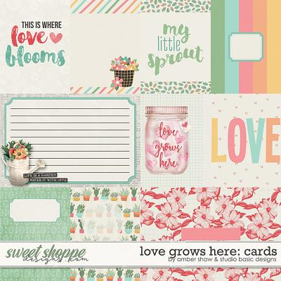 Love Grows Here Cards by Amber Shaw and Studio Basic