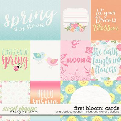 First Bloom: Cards by Grace Lee, Meghan Mullens, and Wendyp Designs