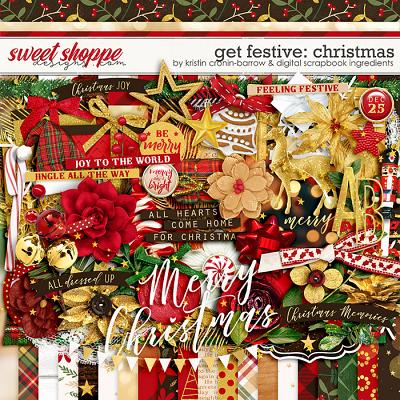 Get Festive: Christmas by Kristin Cronin-Barrow & Digital Scrapbook Ingredients