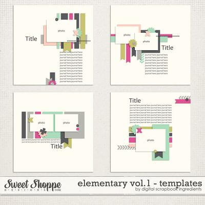 Elementary Templates Vol. 1 by Digital Scrapbook Ingredients