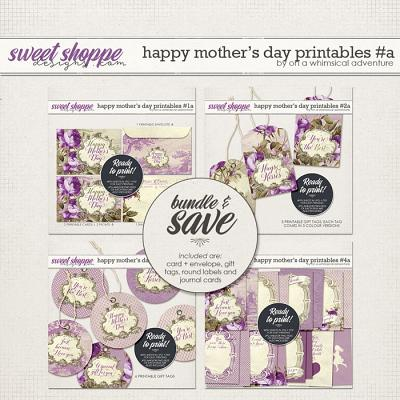 Happy Mother's Day Printables Purple Bundle by On A Whimsical Adventure