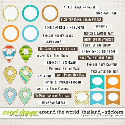 Around the world: Thailand - Stickers by Amanda Yi & WendyP Designs