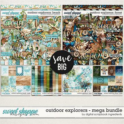 Outdoor Explorers Mega Bundle by Digital Scrapbook Ingredients