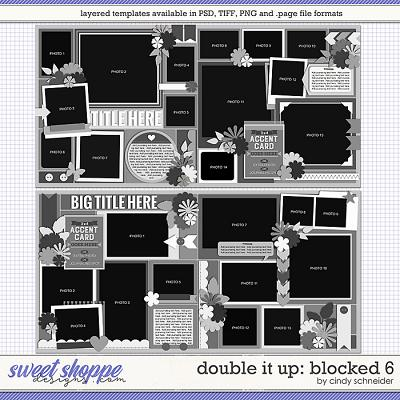 Cindy's Layered Templates - Double It Up: Blocked 6 by Cindy Schneider