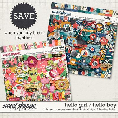 Hello Boy | Hello Girl Bundle by Blagovesta Gosheva, Studio Basic and Two Tiny Turtles