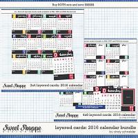 Cindy's Layered Cards - 2016 Calendar Bundle by Cindy Schneider