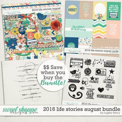 2016 Life Stories - August Bundle by Sugary Fancy