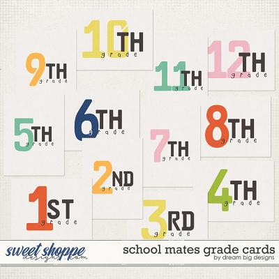 School Mates Grade Cards by Dream Big Designs