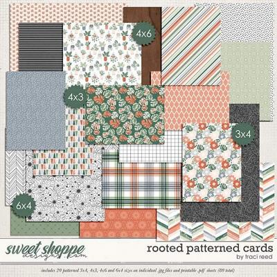 Rooted Patterned Cards by Traci Reed