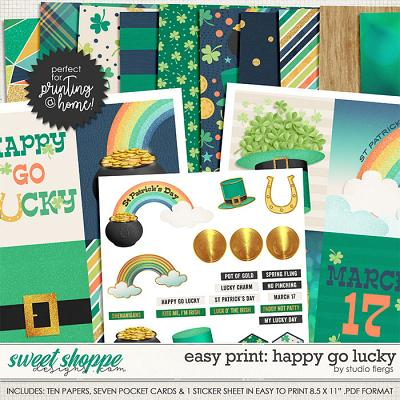 Easy Print: Happy Go Lucky by Studio Flergs