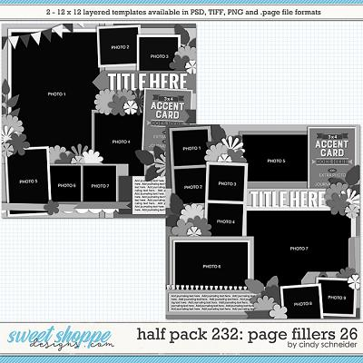 Cindy's Layered Templates - Half Pack 232: Page Fillers 26 by Cindy Schneider