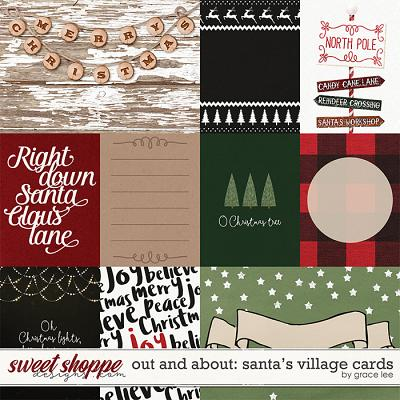 Out and About: Santa Village Cards by Grace Lee