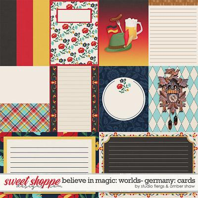 Believe in Magic:  Worlds - Germany Cards by Amber Shaw & Studio Flergs
