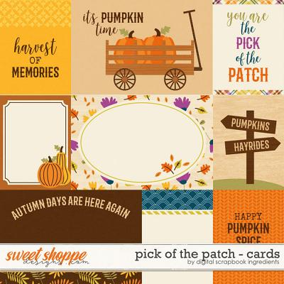 Pick Of The Patch | Cards by Digital Scrapbook Ingredients
