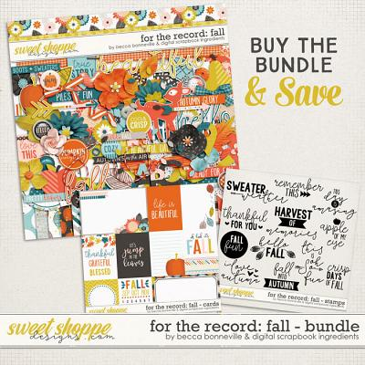 For the Record: Fall Bundle by Becca Bonneville & Digital Scrapbook Ingredients