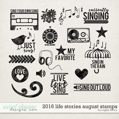 2016 Life Stories - August Stamps by Sugary Fancy