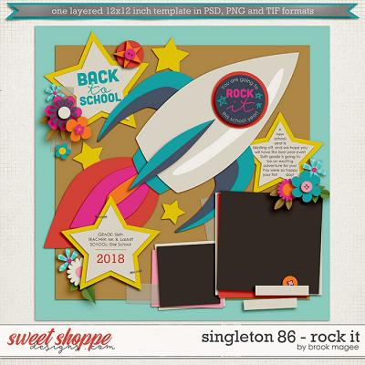 Brook's Templates - Singleton 86 - Rock It by Brook Magee