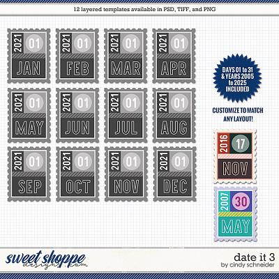 Cindy's Layered Templates - Date It 3 by Cindy Schneider