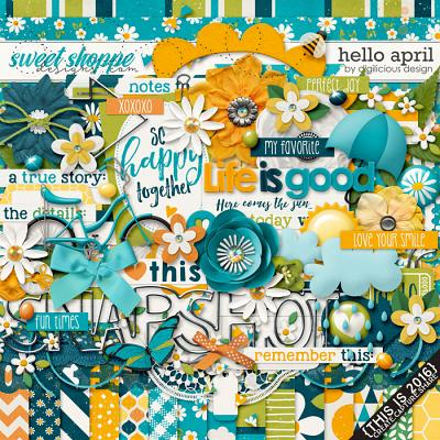 Hello April {Kit} by Digilicious Design