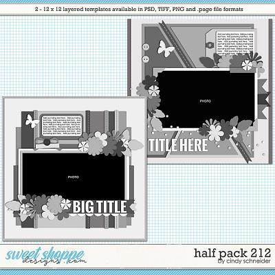 Cindy's Layered Templates - Half Pack 212 by Cindy Schneider