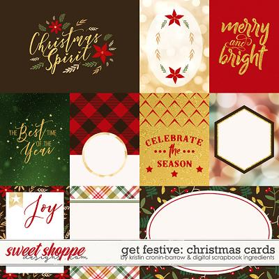 Get Festive: Christmas | Cards by Kristin Cronin-Barrow & Digital Scrapbook Ingredients