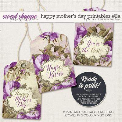 Happy Mother's Day Printable Gift Tags Purple by On A Whimsical Adventure