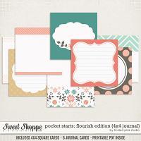 Pocket Starts: Flourish Edition 4x4 Journal Cards by Tickled Pink Studio