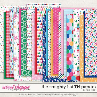 The Naughty List Traveler's Notebook Papers by Traci Reed