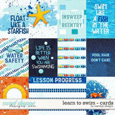 Learn to swim - Cards by WendyP Designs