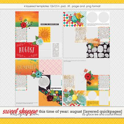 This Time of Year August: Quickpages by Crystal Livesay and Grace Lee