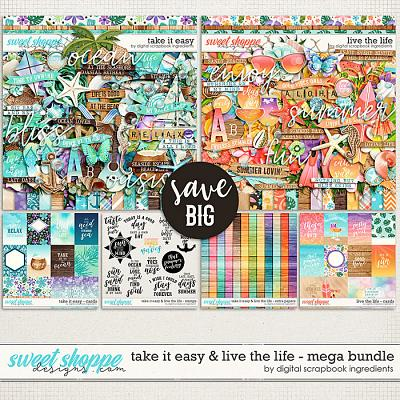 Take It Easy & Live The Life Mega Bundle by Digital Scrapbook Ingredients