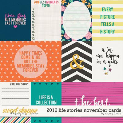 2016 Life Stories - November Cards by Sugary Fancy
