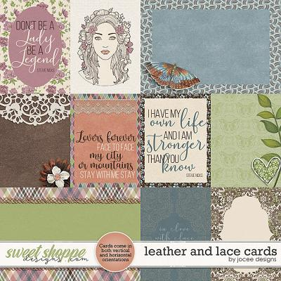 Leather and Lace Cards by JoCee Designs