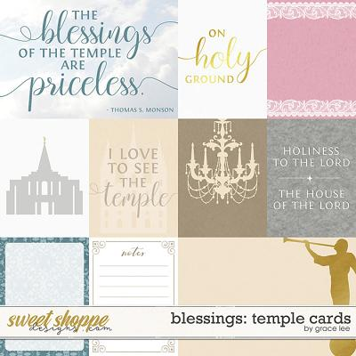Blessings: Temple Cards by Grace Lee