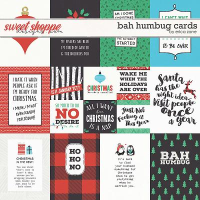 Bah Humbug Cards by Erica Zane