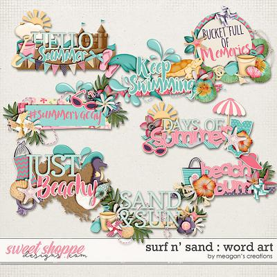 Surf N' Sand : Word Art by Meagan's Creations