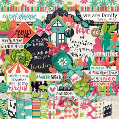 We Are Family {Kit} by Digilicious Design
