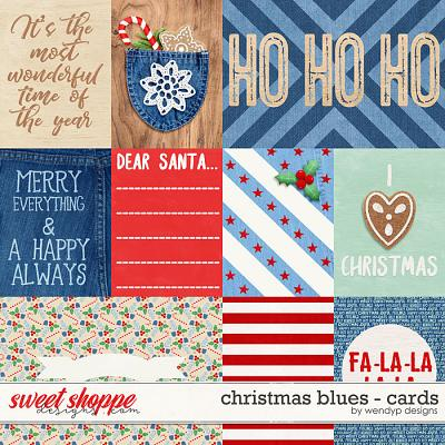Christmas Blues- cards by WendyP Designs