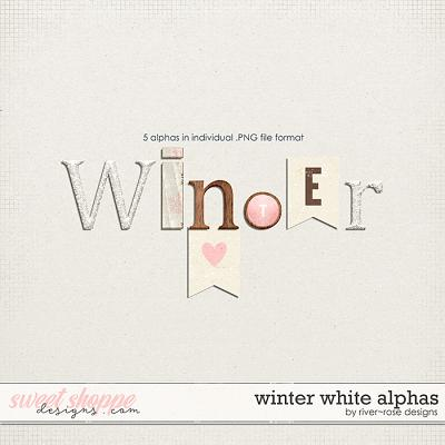 Winter White Alphas by River Rose Designs