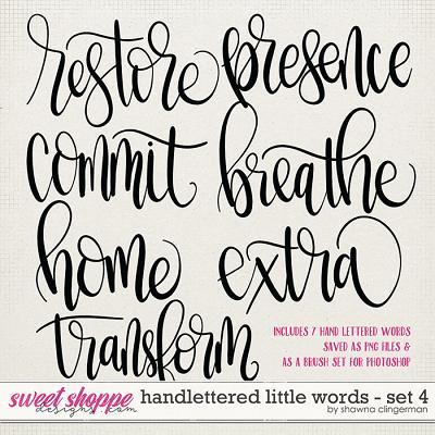 Handlettered Little Words - Set 4 by Shawna Clingerman